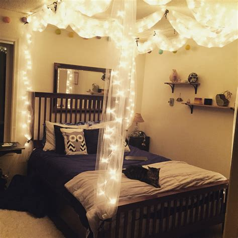 bedroom ideas with canopy bed diy bed canopy with lights diy pinterest canopy