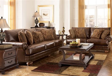 antique living room set ashley furniture durablend antique living room set 99200