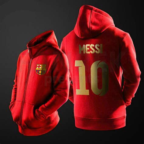 Jaket Zipper 2 This Is Bhayangkara Fc Fc fc barcelona lionel messi suit jacket 10 logo zipper hoodies