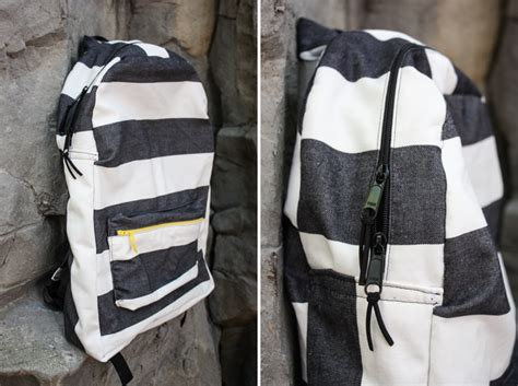 Backpack Handmade - handmade striped backpack one litte minute