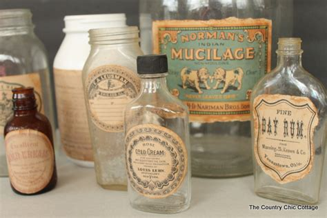 Old Fashioned Kitchen Canisters make your own vintage labels the country chic cottage
