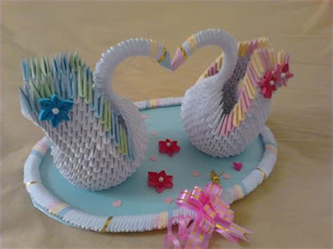 3d Origami Wedding - jewellia handicrafts 3d origami wedding swans