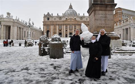 priests threw snowballs  nuns built snowmen  rome