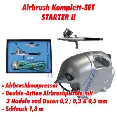Lackieren Mit Airbrush Pistole by Airbrush Komplett Set Kompressor Pistole Lackieren