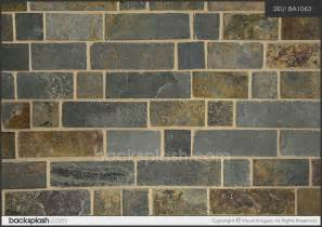 brown slate mosaic backsplash tile
