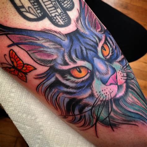 the maine tattoos maine coon cat best design ideas