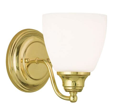 polished brass bathroom light fixtures 1 light livex somerville polished brass bathroom vanity