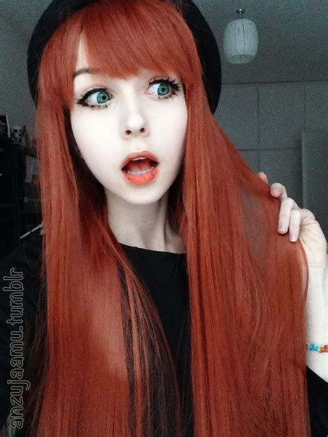 emo hairstyles for redheads anzujaamu fashion bloggers pinterest red hair