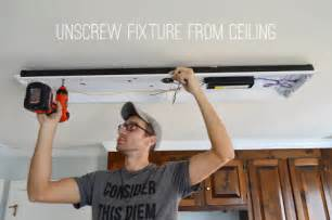 installing fluorescent light fixture how to replace fluorescent lighting with a pendant fixture