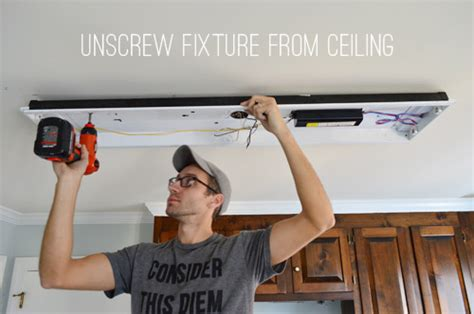 replacing fluorescent light in kitchen how to replace fluorescent lighting with a pendant fixture