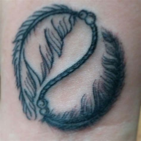 ana tattoo s ying yang feather by ed quot ed quot xotic