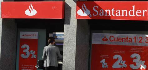 banco santander cajeros santander recupera el negocio de las tarjetas y cajeros de