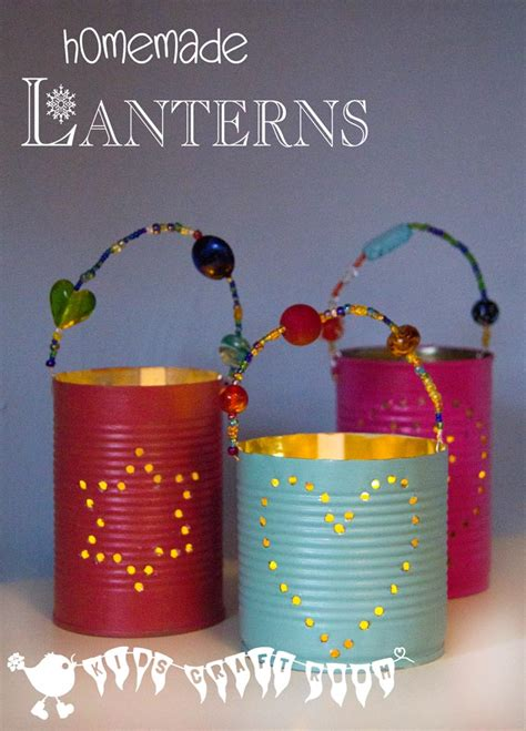 household gifts homemade gifts tin can lanterns kids craft room