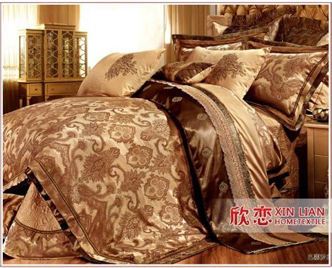 9 pcs gold comforter set luxury hot sale bedding set king