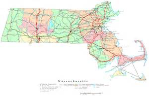 Map Massachusetts by Massachusetts Printable Map
