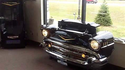 57 chevy sofa 1957 chevy tv lift couch and refrigerator for the