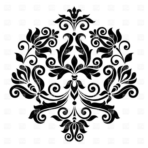 design black and white vintage floral pattern black and white vector