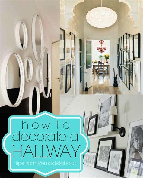 ways  decorate  hallway remodelaholic