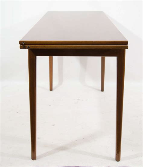 Convertible Console Dining Table Jens Risom Convertible Dining Console Table At 1stdibs