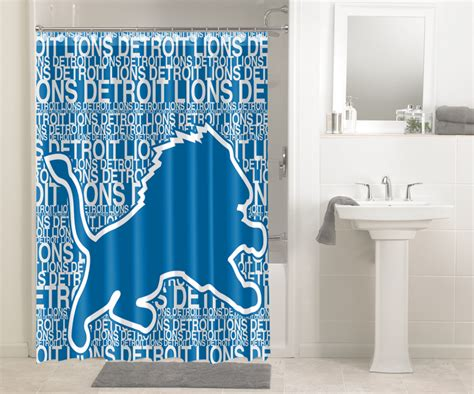 detroit lions shower curtain detroit lions nfl football 548 shower curtain waterproof