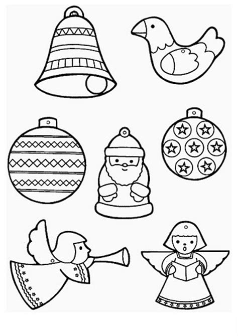 coloring page of christmas ornament christmas crafts and worksheets for preschool toddler