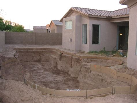 Backyard Excavation by Build Your Own Pool How I Built Own Swimming Pool