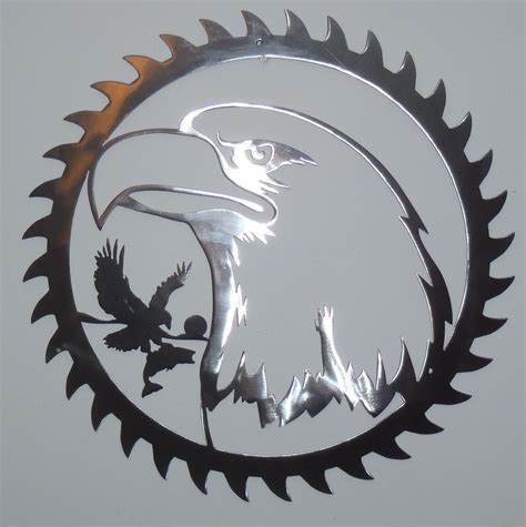 Eagle Decorations by Eagle Sawblade Brushed Steel Metal Wall Decor