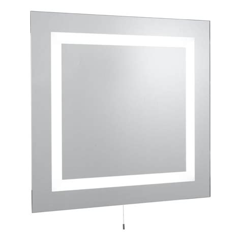 Square Bathroom Mirror Searchlight 8510 Illuminated Mirrors Square Illuminated Bathroom Mirror Lighting From The Home
