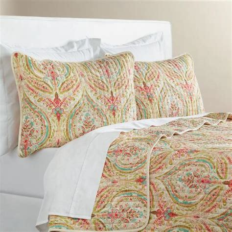 Reversible Quilt Watercolor Ogee Reversible Quilt World Market