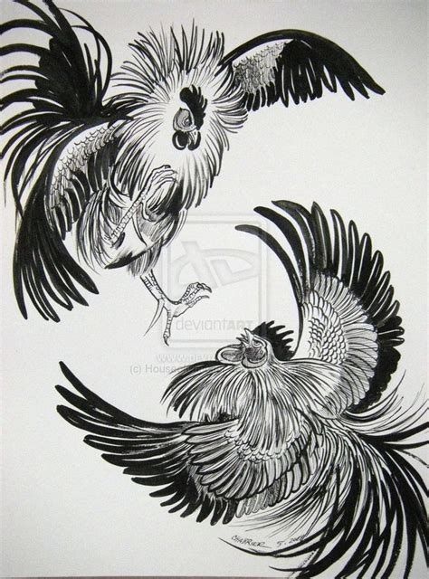 rooster tattoo pinterest fighting rooster drawing google search things to do