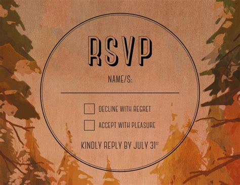 Beyond The Designers by Beyond The Pines Print On Wood Rsvp Cards