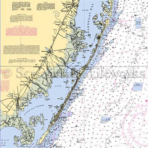 Kitchen Island Table Combination by New Jersey Barnegat Bay Nautical Chart Decor