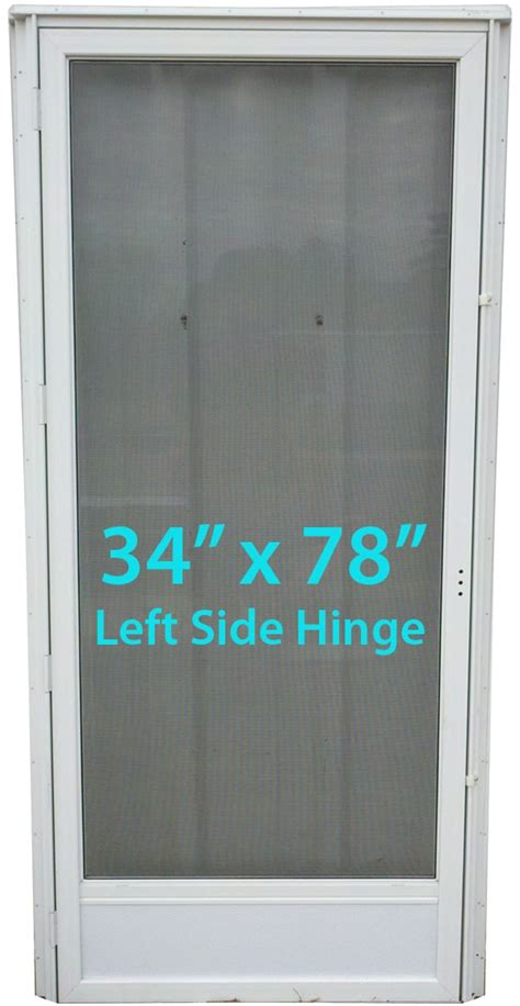 mobile home view door 34x78 lh white with screen