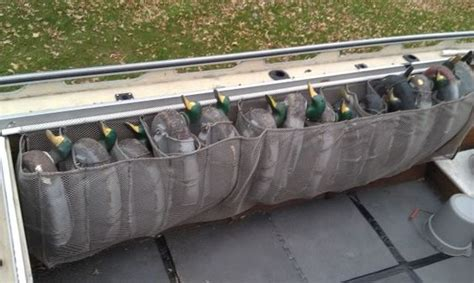gunnel boat ladder gunnel decoy bags duck boat pinterest storage ideas