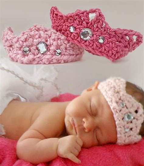 Free Crochet Pattern For Baby Tiara | cool crochet patterns ideas for babies hative
