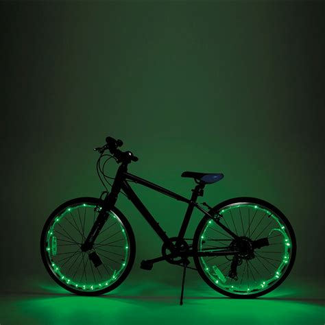 lights on wheels of a bicycle wheely bright led bike wheel and frame lights