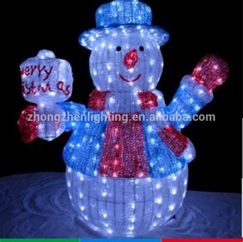 outdoor wholesale led light up clear acrylic christmas