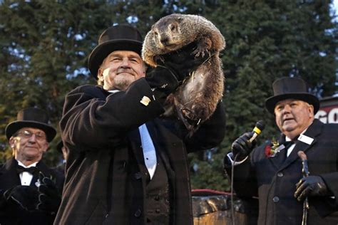 groundhog day new say it ain t so punxsutawney phil predicts 6 more weeks