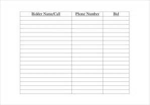 auction spreadsheet template search results for silent auctions templates word