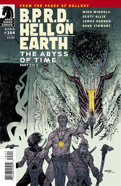 b p r d hell on earth volume 1 books b p r d hell on earth 104 the abyss of time part 2 of