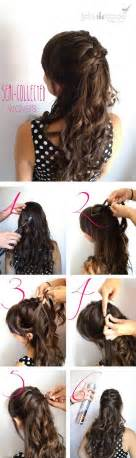 curly hair updos step by step instructions for easy hairstyles long hair long hairstyles