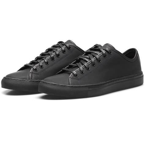 diemme sneakers diemme black rubberized leather veneto low sneakers in