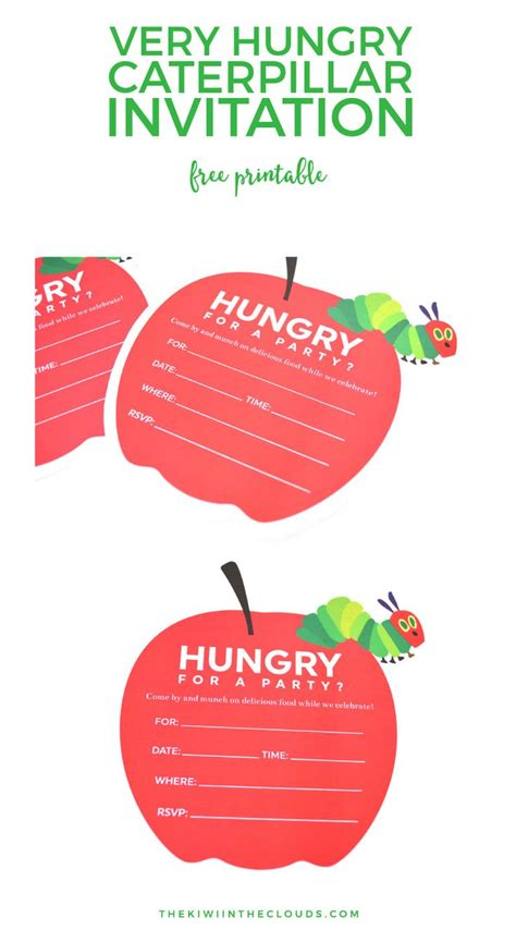 hungry caterpillar templates free hungry caterpillar invitation template free yourweek