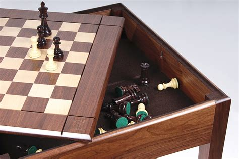 usa made walnut and maple player s chess table and board