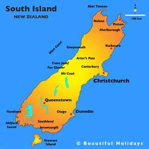 the south island map south island beautiful new zealand