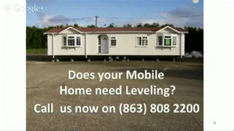 how to level a mobile home 863 808 2200 lakeland