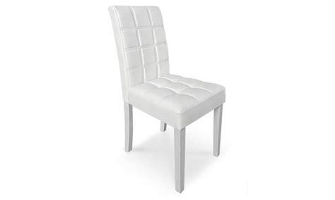 sedie ecopelle economiche set di sedie imbottite in ecopelle groupon