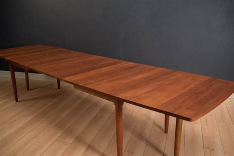 Drop Leaf Conference Table Solid Teak Expandable Drop Leaf Dining Table At 1stdibs