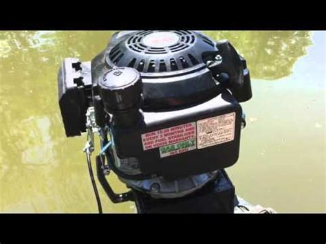 lawnmower boat motor making a homemade boat motor start to finish lawn mower