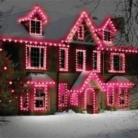 pink lights outdoor christmas lights christmas decor